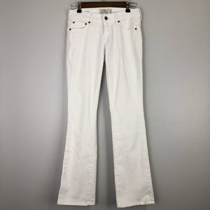 Lucky Brand White Boot Cut Jeans Size: 0 /25